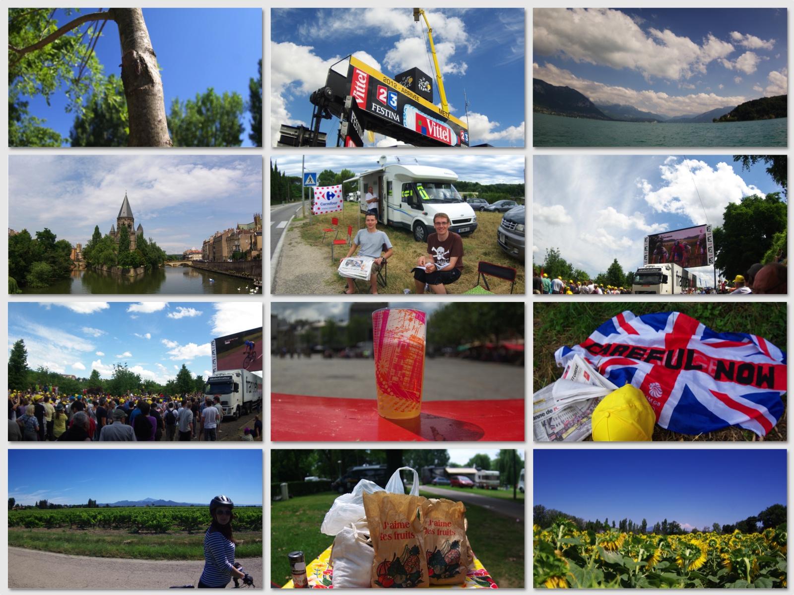 Photo montage - Tour de France 2012