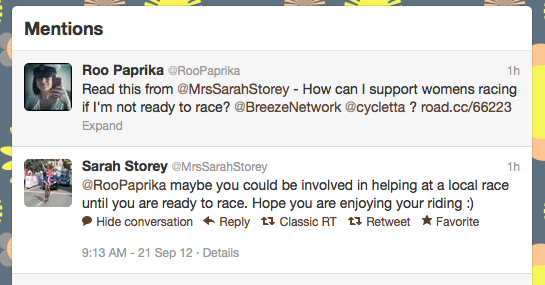Tweet from Sarah Storey