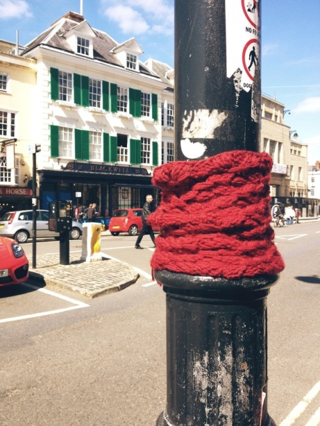 Lampost Yarnbomb Oxford