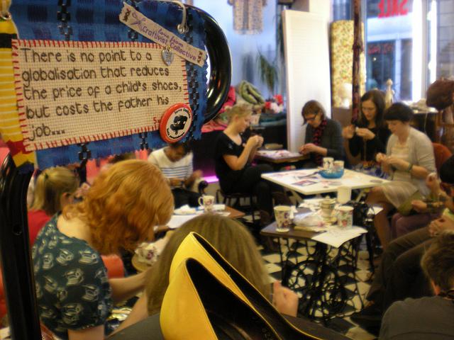 Mini Protest Banner in Paper Dress Vintage Boutique