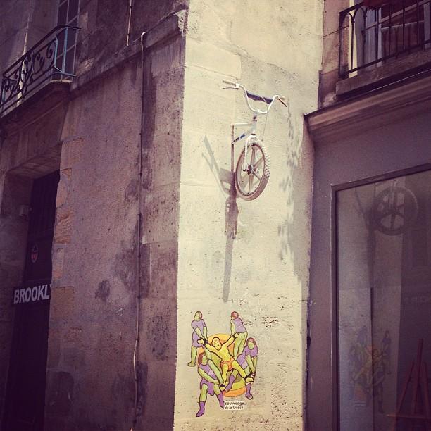 Bike in the wall