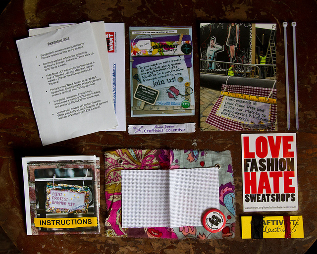 Craftivist Collective mini banner kit