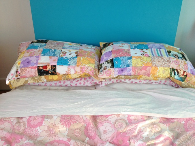 Homemade Patchwork Pillowcases