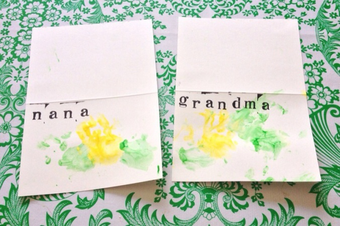Little Stitch Blog: Baby-made Mother's Day Cards