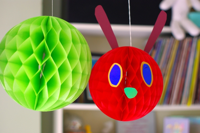 Paper Hungry Caterpillar head