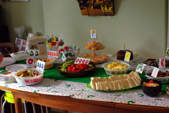 Hungry Caterpillar birthday tea