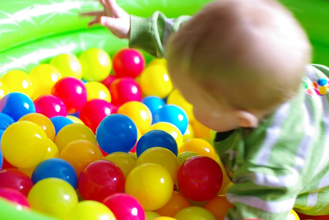 Ball pool at Hungry Caterpillar Birthday Party