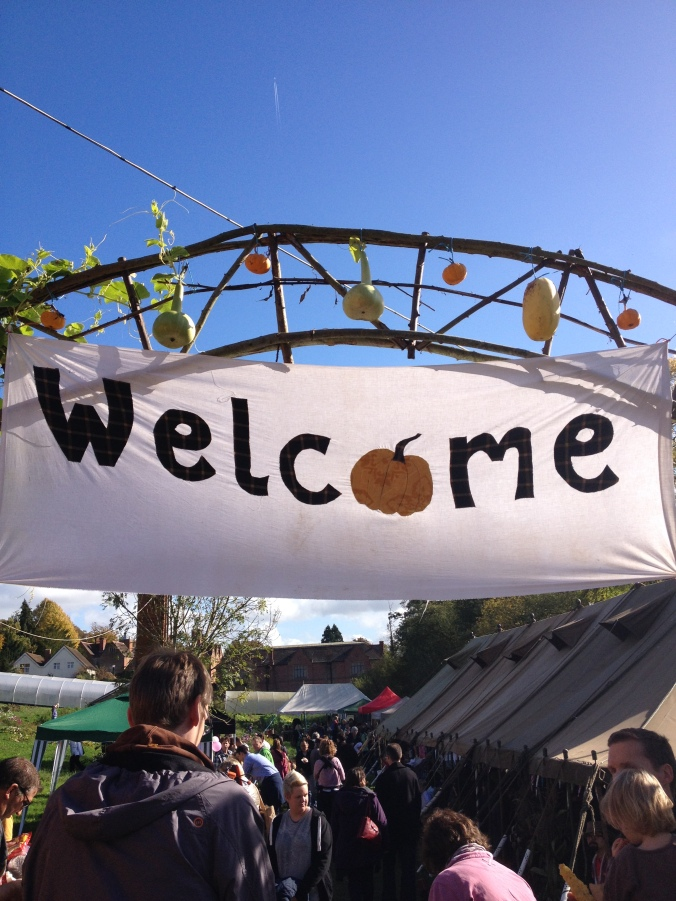 Welcome banner - Squash and Pumpkin Festival